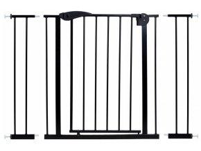 Bezpečnostní zábrana bezpečnostní bariéra 75-116 cm, výška 76 cm černá