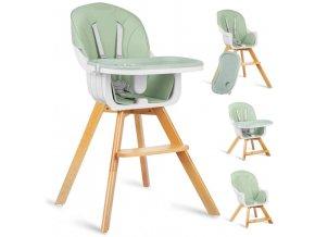 Jídelní židlička mátová, vzor 700202