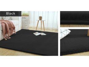 Kusový koberec RABBIT - Černý - imitace králičí kožešiny