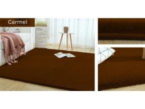 Kusový koberec RABBIT - Karamel - imitace králičí kožešiny
