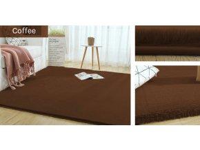 Kusový koberec RABBIT - Káva - imitace králičí kožešiny