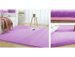 Kusový koberec RABBIT - Levandule - imitace králičí kožešiny