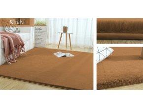 Kusový koberec RABBIT - Khaki - imitace králičí kožešiny