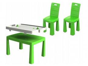 Stůl na vzdušný hokej + 2 židle, vzor 1