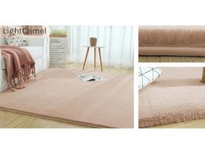 Kusový koberec RABBIT - Světle Béžový - imitace králičí kožešiny