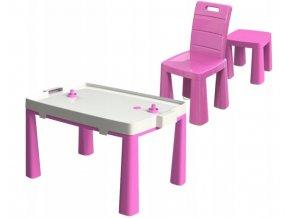 Stůl na vzdušný hokej + 2 židle, vzor 2