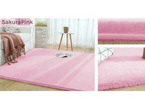 Kusový koberec RABBIT - Růžový Sakura - imitace králičí kožešiny