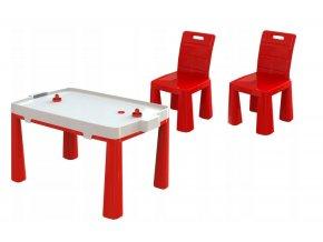 Stůl na vzdušný hokej + 2 židle, vzor 3
