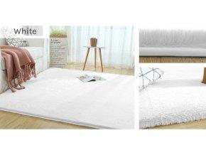 Kusový koberec RABBIT - Bílý - imitace králičí kožešiny