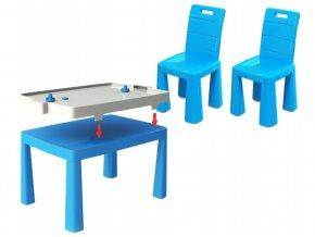 Stůl na vzdušný hokej + 2 židle, vzor 4