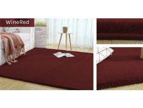 Kusový koberec RABBIT - Bordó - imitace králičí kožešiny