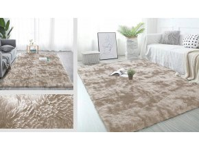 Plyšový koberec - Ombre Camel