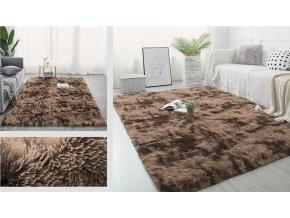 Plyšový koberec - Ombre Coffee