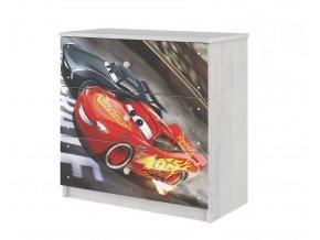 Dětská komoda disney - auta 3 80x80cm