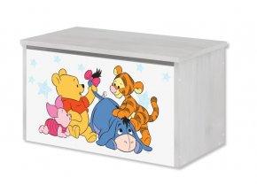 Dětská truhla na hračky disney medvídek pú a kamarádi