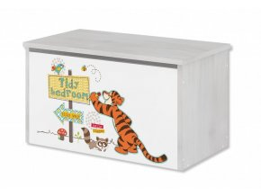 Dětská truhla na hračky disney medvídek pú a tygřík