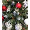 Umělá vánoční borovice s šiškami - diamant 120 cm1