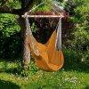 Závěsné houpací křeslo s polštáři 100x120 cm - žluté