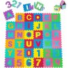 Pěnové puzzle ABECEDA A ČÍSLA 36 ks 180x180x1 cm mix barev 2
