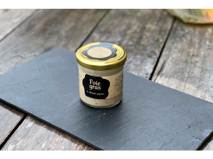 Foie gras se zeleným pepřem 165ml