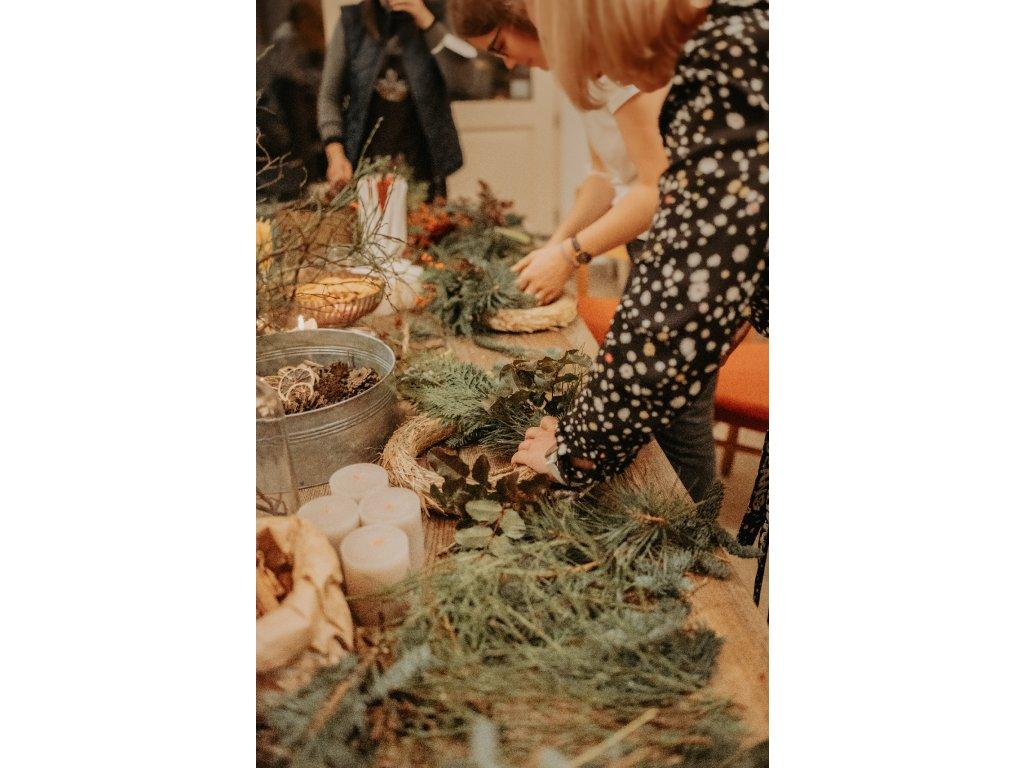 Kurz - Vánoční adventní věnec (LISTOPAD/PROSINEC)