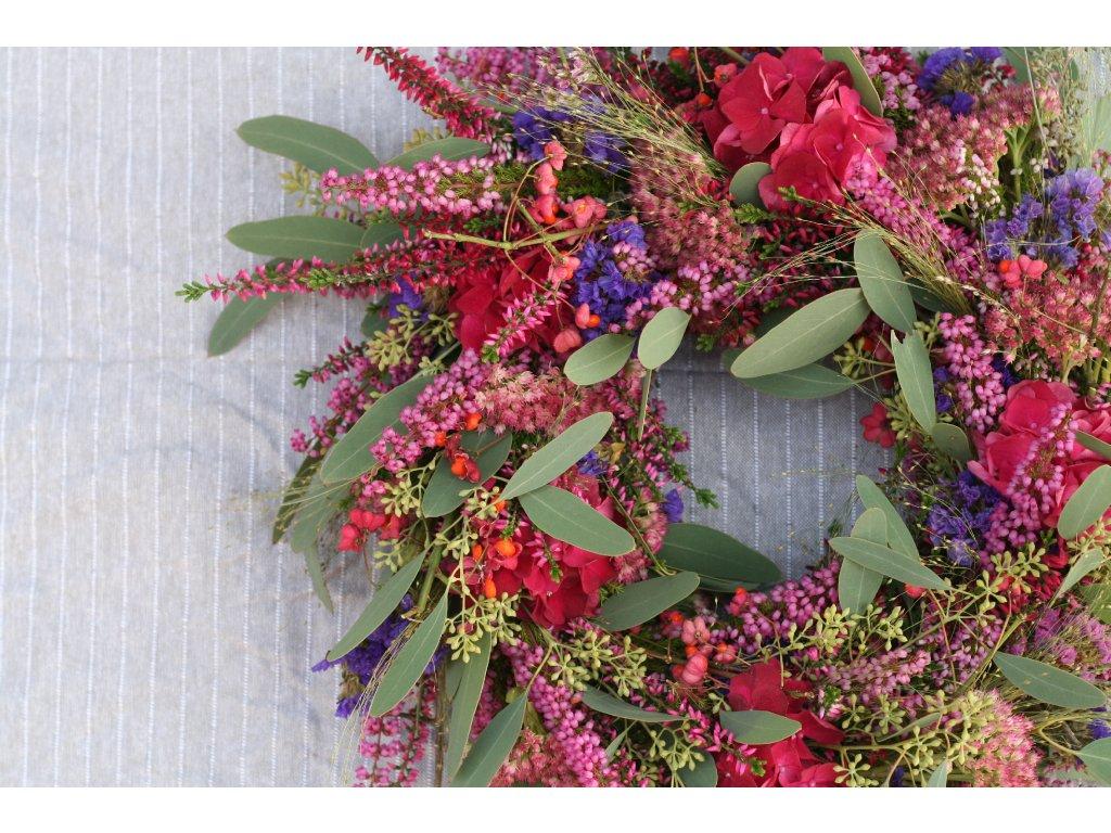Podzimní hortenziový věnec