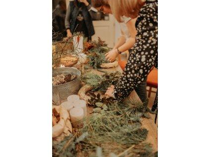 Kurz - Tvorba adventního věnce (Listopad/Prosinec)