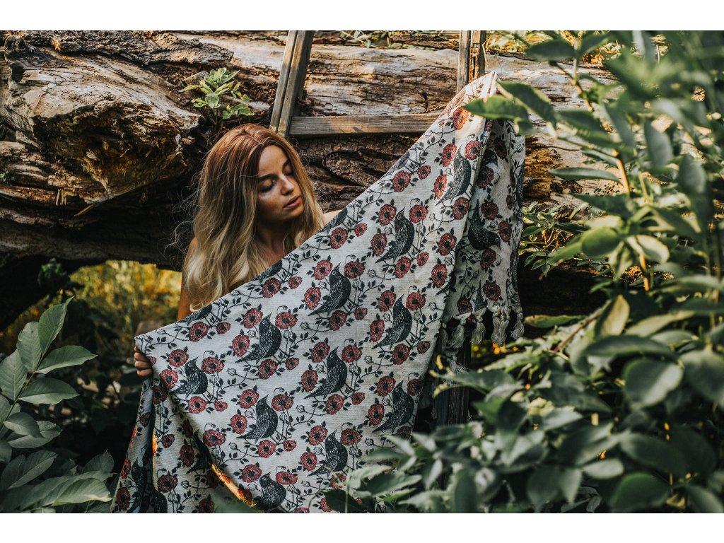 Šátek Wild Slings Le temps des cerises – le jaspe