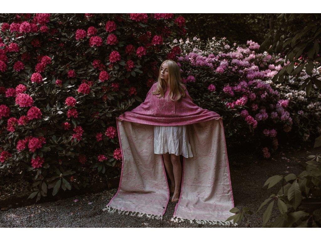 Šátek Wild Slings Rêves de la lune - Cerisier en fleurs