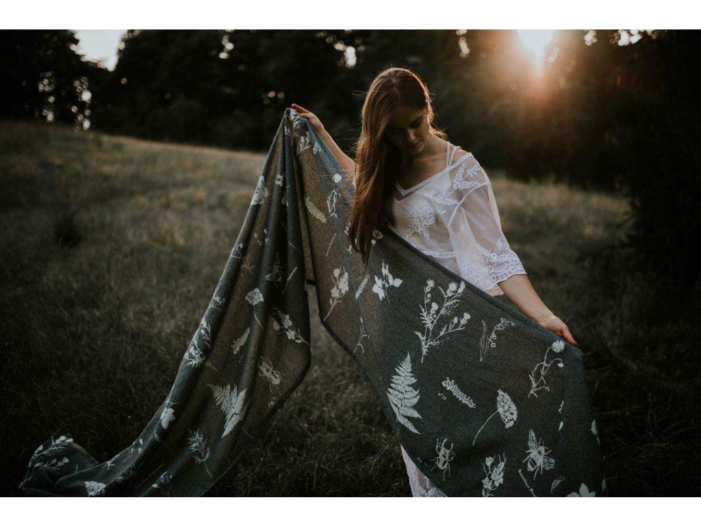 Šátek Wild Slings La foret vierge – Granit