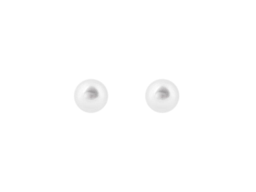 Ocelové náušnice pecky s perličkami 0,6 cm