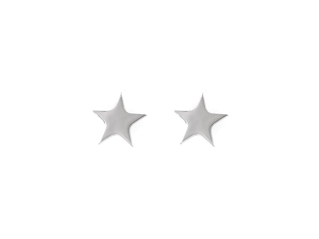 Ocelové náušnice pecky hvězdička