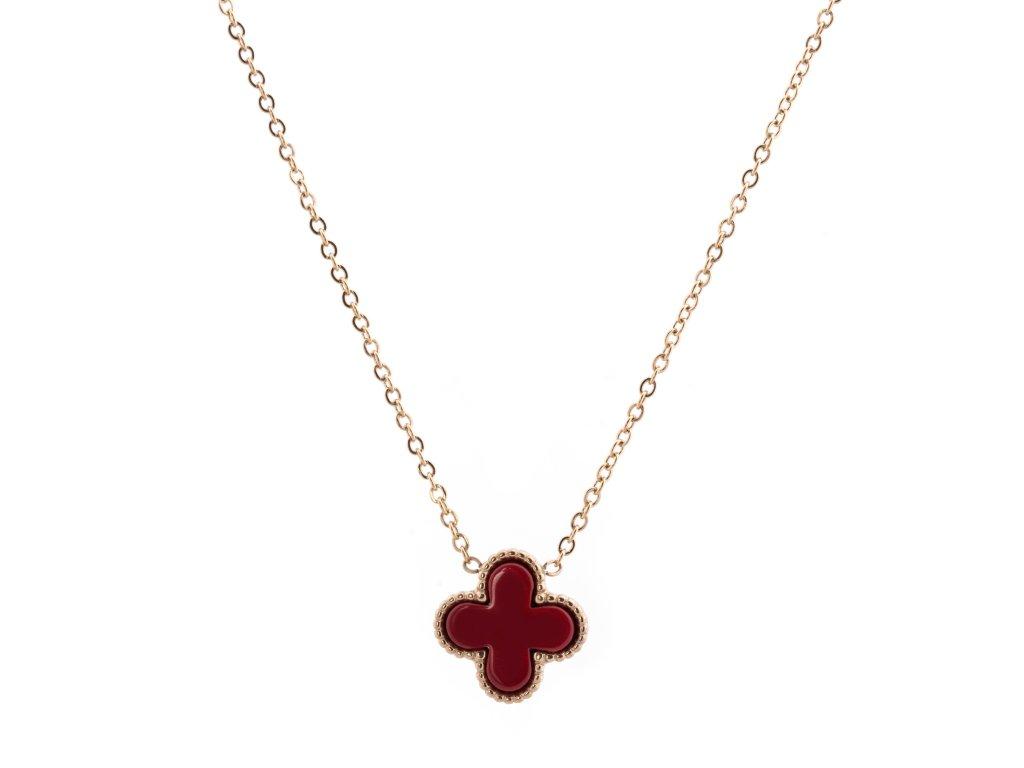 Ocelový náhrdelník FLOWER CORAL zlatý