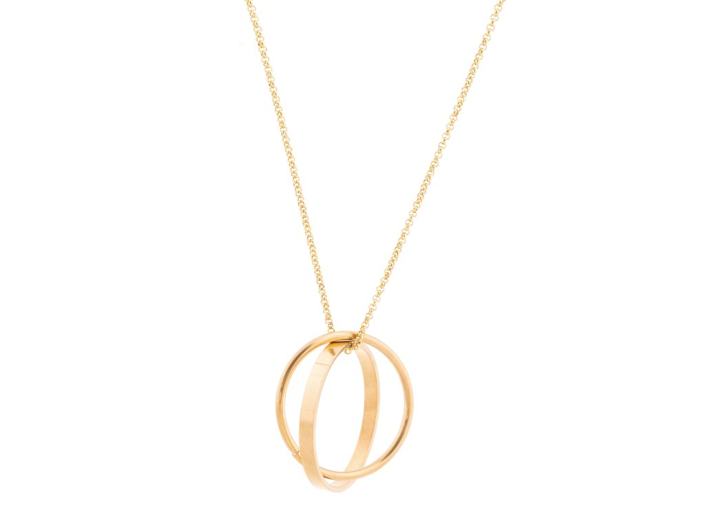 Masivní ocelový náhrdelník CONTACT zlatý