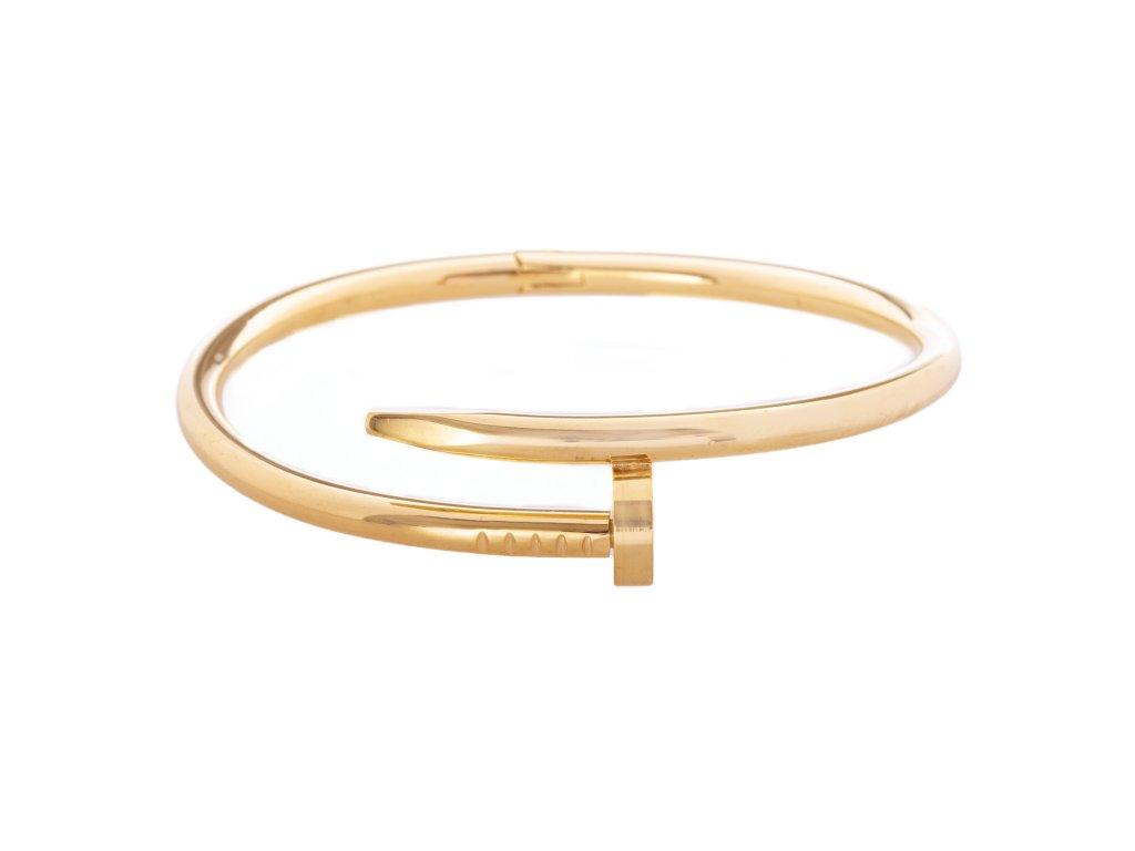 Ocelový náramek bangle NAIL zlatý