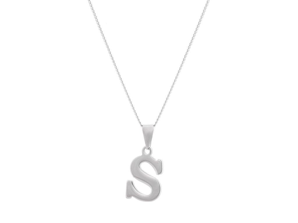 """Ocelový náhrdelník s písmenem """"S"""""""