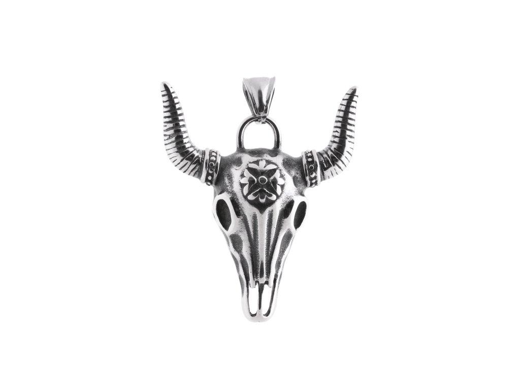 Ocelový přívěsek hlava bizona