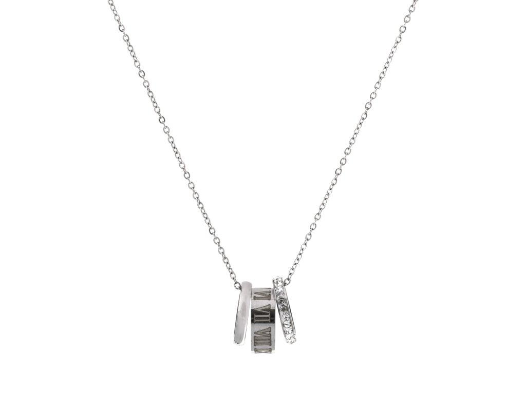 Ocelový náhrdelník CLOCK medium