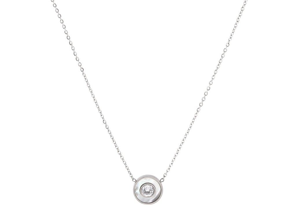 Ocelový náhrdelník PEARL SPOT