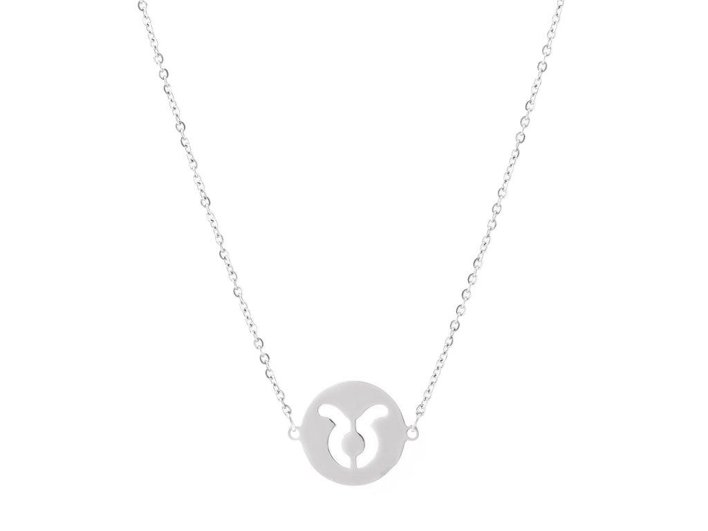 Ocelový náhrdelník znamení zvěrokruhu - BÝK