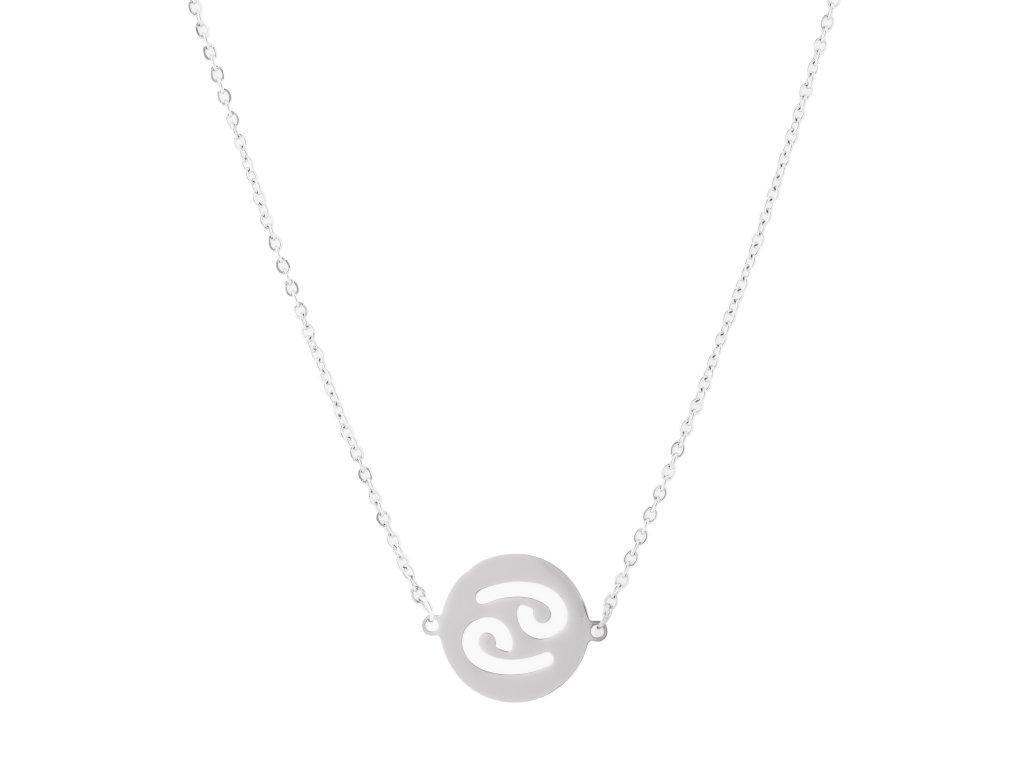 Ocelový náhrdelník znamení zvěrokruhu - RAK