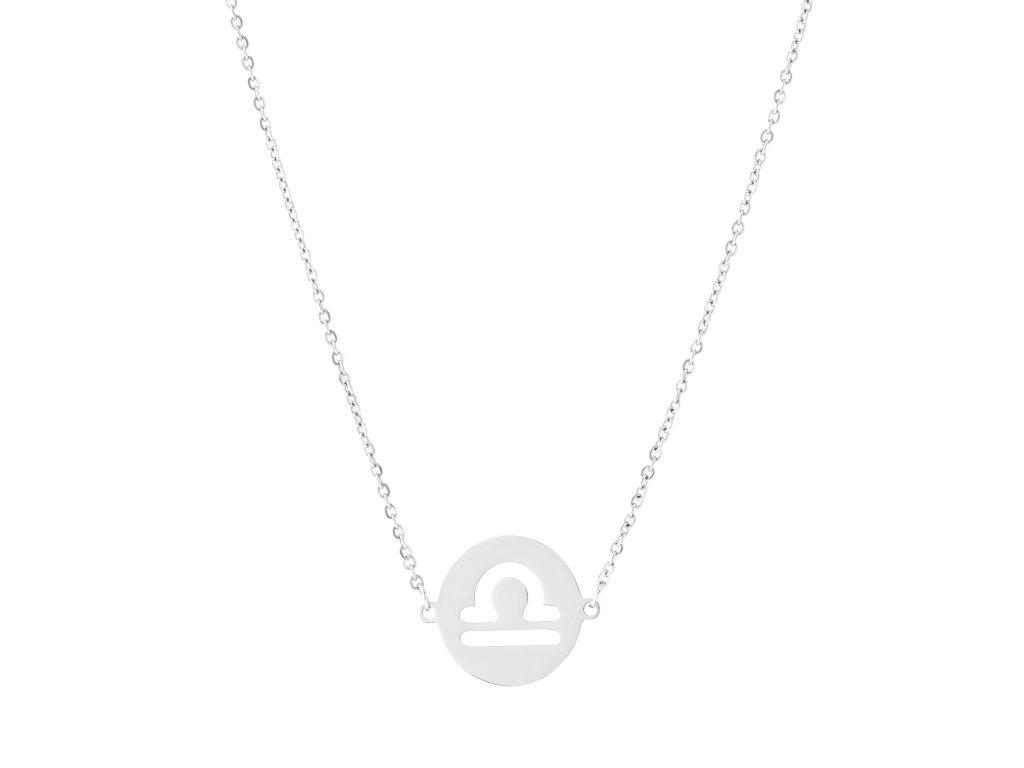 Ocelový náhrdelník znamení zvěrokruhu - VÁHY