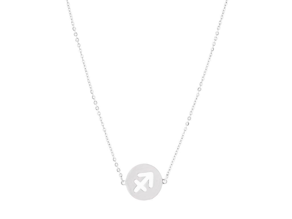 Ocelový náhrdelník znamení zvěrokruhu - STŘELEC