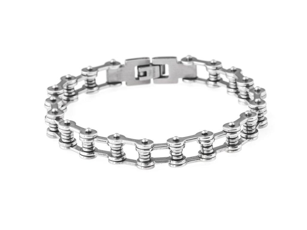 Pánský ocelový náramek motocyklový řetěz 1,1/22,5 cm
