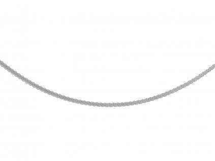 Ocelový řetízek hadí plochý 45/0,25 cm