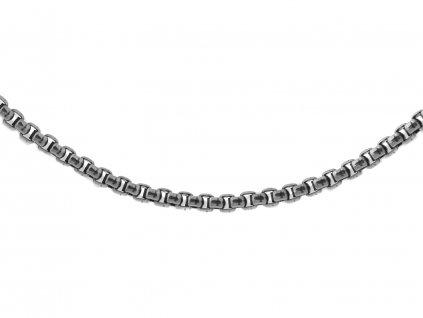 Ocelový řetízek Venezia gunmetal 60/0,4 cm