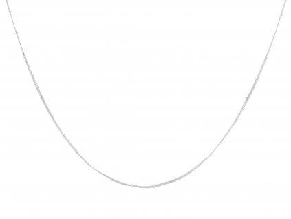Ocelový řetízek s korálky 50/0,2 cm
