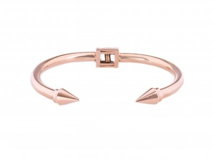 Ocelový náramek bangle SPIKE rose gold