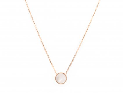Ocelový náhrdelník PEARL SPHERE rose gold