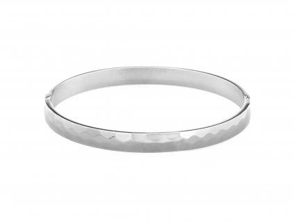 Ocelový náramek bangle WROUGHT stříbrný